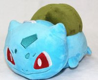 Wholesale 30pcs cm Anime Poke Bulbasaur Squirtle Pikachu Charmander Plush Soft Doll Stuffed Toy for kids gift EMS