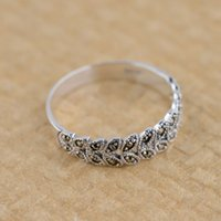 american wheat - Thai silver S925 silver inlaid wheat Marcasite Ring