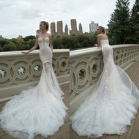 allure dresses - 2016 Inbal Dror Wedding Dresses Mermaid Allure Bridal Applique sweetheart neckline summer outdoors weddings Plus Size Bridal Gown Draping