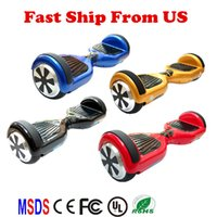 Wholesale USA Stock Inch Hoverboard no Bluetooth Electric LED Scooter Two Wheels Smart Self Balancing Wheel Drifting Board Scooter Skateboard