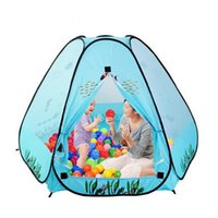 Wholesale Safety Kids Play Tent Polka Dot Hexagon Baby Playpen Mesh Indoor Stress Ocean Ball Pool Play Yard Tents for Children