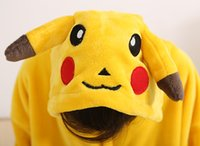 animal adult onesie - unisex fannel animal onesie pikachu footed pyjamas for adults wear kigurumi for party Halloween costume suit