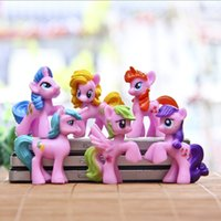 Wholesale 2016 hot Toy Collection pawl Cute patroled PVC Unicorn Poni Toys For Children Birthday Christmas doll Gift