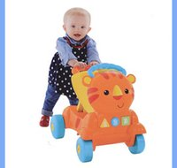 Wholesale Good quality with cheap price Tiger design Baby walker baby trolley with singing from china