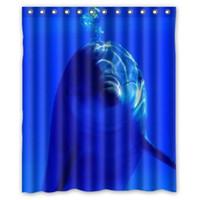 bathroom shower ideas - Custom Creative Home Ideas Elegance Smart Dolphin Bathroom Waterproof Polyester Fabric x180cm Shower Curtain