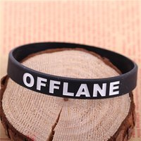 band hero games - 100 DOTA SOLO CARRY GANK OFFLANE SUPPORT wristband Dota2 printed band Game heroes Jewelry