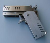 al por mayor mini diseño de acero-Casquillo del juguete Mini modelo exacto del mecanismo de la escala del arma 1/2, mini ballesta 304 juguetes mecánicos del acero inoxidable diseñan,