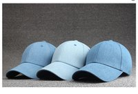 Wholesale Summer Fashion Solid Color Jean Cotton Baseball Cap Sports Hat Travel Hat