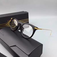 Wholesale DITA Riad Eyeglasses Frames Black Gold Dita Round Eyeglasses Design Unisex Brand New with Box