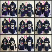 jacket team - new york rangers dan girardi lace up p Hooded Sweatshirt Hockey Jackets New Style All Teams Outdoor Uniform size
