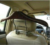Wholesale Hot Selling New Car hanger stainless steel clothes rack car hanger car hanger cherry wood racks