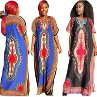 Wholesale In the latest high quality color with blue and black Ethnic Clothing Women African Clothes Traditional Dashiki Dress