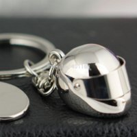 bicycle chain keychain - 10Pcs Helmet Key Chain Ring Creative Polished Chrome Motorcycle Bicycle Accessories Movable Sunshade Keychain Keyring Keyfob