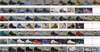 al por mayor el fan del estilo-Zapatos del nuevo estilo de PVC blando Llavero Baloncesto Llavero Llave de coche colgante 5 Generación recuerdos 21 Colores del ventilador a través de la nave de DHL