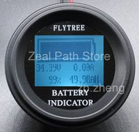 Wholesale Round Coulombmeter lithium ion batteries real capacity LCD indicator electric parameter meter coulombmeter Counter V100A