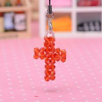 apple color manual - New Pattern Exquisite Manual Weave Package Hang Mobile Phone Chain MM The Tip Of The Pearl River Solid Color Cross