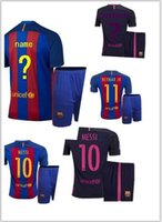barcelona jersey numbers - Top thai quality W Barcelona Set football jersey Quarter adults tees Free number printed WDD