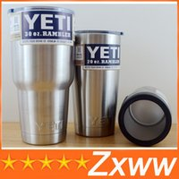 Wholesale Yeti oz oz oz oz Cups Cooler Stainless Steel Rambler Tumbler Car Vehicle Beer Mugs Double Wall Bilayer Vacuum Insulated Cup
