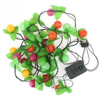 Wholesale 28LED Lights String Fairy Lights Christmas Xmas Party Tree Decor Colorful Fruits