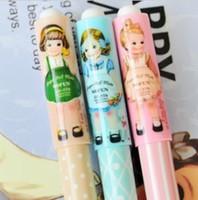 Wholesale 0 mm Korea Style Paper Doll Mate Gel Pen Kawaii Korean Design Gel pen Stationery Office School Supplier OP008