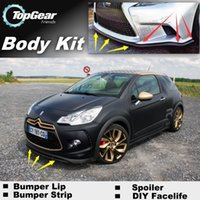 Wholesale Bumper Lip Lips For Citroen DS3 Front Skirt Deflector Spoiler For Car Tuning The Stig Recommend Body Kit Strip