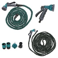Wholesale 100FT Anself Garden Hose Fittings Set Flexible Water Pipe Faucet Connector Fast Connector Valve Multi functional Spray Nozzle