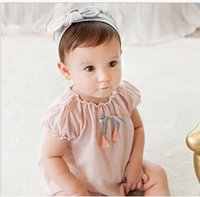 baby gifts export - Export Europe and united states hot sales children s hair with elastic cotton rabbit ears Bow Headband baby gift