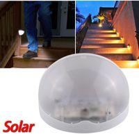 Wholesale Solar Power LED Bright Saving Hemispheric Garden Wall Light Outdoor Waterproof Gutter Lamp Warm White