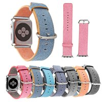 Cheap Newest Woven Nylon Band For Apple Watch Band of Layers Wrist Bracelet Strap Watchband Metal Classic Buckle With Adapters Many Color OTH212