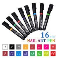 Wholesale Nail Art Pen Colors for DIY Nail polish D Nail Art DIY Decoration Painting Design Tool D Design Nail Beauty color drawing pen