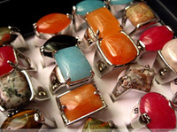 Wholesale bulk mixed styles ladies stone metal alloy vintage retro jewelry rings brand new