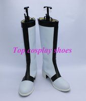 ange shoes - Cross Ange Tenshi to Ryuu no Rondo Cosplay Boots shoes new version white JZ075 hand made Custom made hand made Custom made
