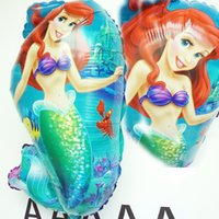 balloons girl - 5pc Foil balloon Helium Ariel princess Balloon Cartoon Novelty Balloon Mermaid For Girl Birthday Party balloons Best Gifts