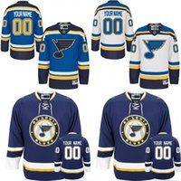 Wholesale 2016 Customized Men s St Louis Blues custom Any Name Any Number Ice Hockey Jersey Authentic Jersey Stitched Accept Mix Ord size S XL