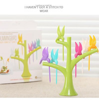 Wholesale Talheres Limited Bento New For Home Kitchen Utensils Cutlery Set Fruit Fork Six Birds In The Trees Accessories