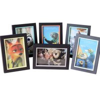 Wholesale Prettybaby zootopia wooden picture frame home creative dispaly photo frames X6 X7 sizes styles home decoration gift Pt0473 DHL