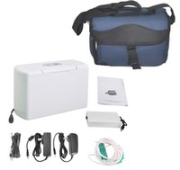 Wholesale CE FDA Portable Oxygen Concentrator Generator Low noise Home Travel Use carry bag Free shiping by DHL