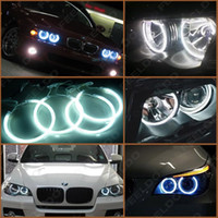 Wholesale White Car CCFL Halo Rings Angel Eyes LED Headlights for BMW E46 NON projector Light Kits