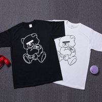 bear tees - Design Brand T Shirt Cute Bear Printed White Black T shirts Tees Undercover Hip hop Jogger Shirt Top LLWF0519