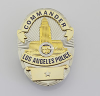 Wholesale US LAPD COMMANDER BADGE Brass
