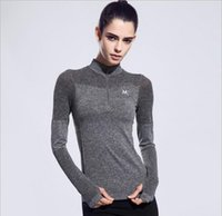 Wholesale Latest ladies fashion sportswear jacket slim Half Zip running yoga clothes Free Delivery