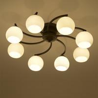 america kitchen - Modern glass pendant lamp E27 led source modern European America style led pendant light for living room dinning room bedroom decoration