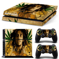 Cheap Cool Jamagerica Sin Bob marley Lion Protective Skin Stickers For PS4 Console For PS4 Controller 1 Full Set