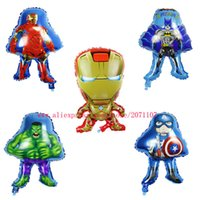 air america - Lucky The Avengers Alliance Iron Man amp Captain America amp Hulk amp Batman Balloons Cartoon Foil Air Balloon Party Baloons Toys