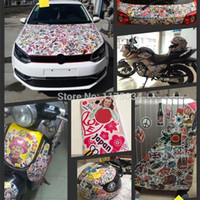 bicycle motor cars - Item Chose Glossy Film Cartoon Brand Logo Stickers For Laptop Guitar Box Skateboard Bicycle Motor Luggage Car Styling Sticker