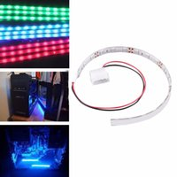 Wholesale 2016 New cm SMD LED PC Computer Case Strip Light Warm White Waterproof Promotion