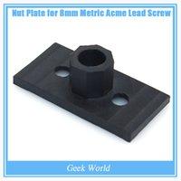 Wholesale Presale CNC Printer Bracket Parts Teflon Nut Plate For Openbuilds C beam Hardware T8 Lead Screw amp Aluminum Profile