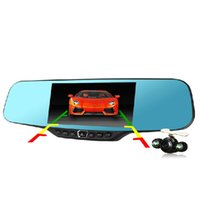 Wholesale car dvd Newest inch Full HD P Car Rearview Mirror DVR Car Camera Parking Night Vision Car DVR Dual Camera Video Recorder