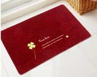 Wholesale 2016 fashion Kitchen Corridor Rug Antiskid Rubber Bottom Doormat Anti Skip Embroidery Rub colorful Doormat