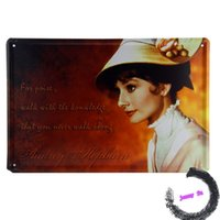 audrey hepburn quotes - Audrey Hepburn Inspired Quote Walk with the Knowledge Tin Sign Metal Wall Decor K82